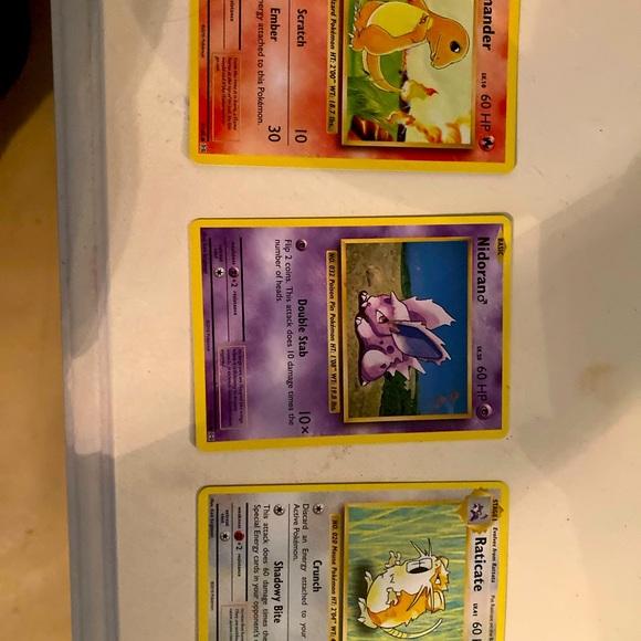 Limited old style Pokémon cards